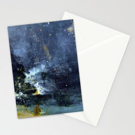 James Abbott McNeill Whistler Nocturne in Black and Gold Stationery Cards