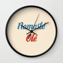 Namasté Olé Wall Clock