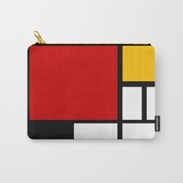 Piet Mondrian - Composition with Red, Yellow, and Blue 1942 Artwork Carry-All Pouch