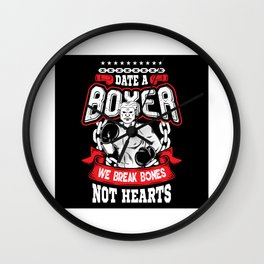 Boxer Boxing Boxing Glove Dating Wall Clock