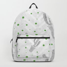 Cactus Polka Dots Pattern Backpack
