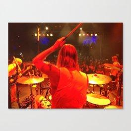 Taylor Hawkins Drum World Canvas Print