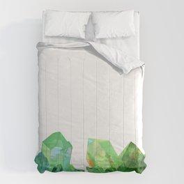 Green Crystals Comforters