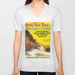 Vintage poster - Rin-Tin-Tin Unisex V-Neck