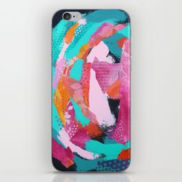 Summer Mixed Media Collage iPhone Skin