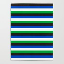 Torres Strait Islander flag stripes Poster