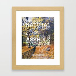 Earthquake weather Framed Art Print