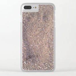trace in the sand Clear iPhone Case
