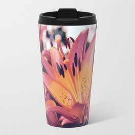 Michigan Pink Lillies Travel Mug