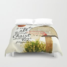 Philippians I can do all things Duvet Cover