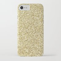 gold glitter iPhone & iPod Cases featuring gold glitter by lamottedesign
