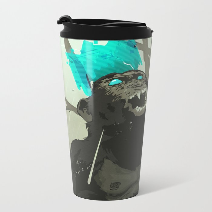 Uneasy Lies the Head That Wears the Holographic Crown Metal Travel Mug