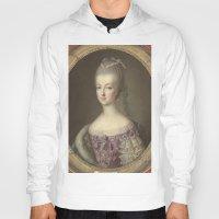 marie antoinette Hoodies featuring Marie Antoinette by Mary