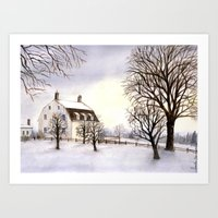 Winter in New England Art Print
