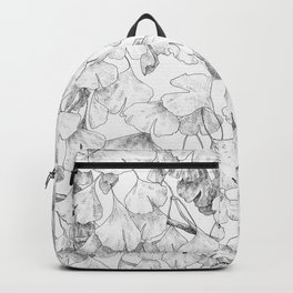 Ginkgo biloba - pattern in black Backpack