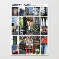 Wicker Park Neighborhood Poster Canvas Print