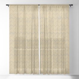 Yellow natural straw textile texture Sheer Curtain