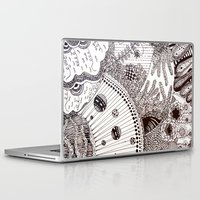 zentangle Laptop & iPad Skins featuring Zentangle by Marisa Toussaint