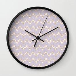 Chevron flowers - Orchid Hush Wall Clock