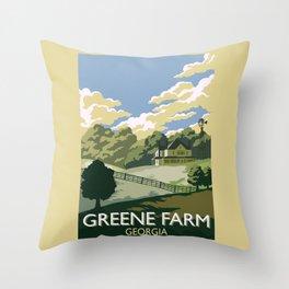 Greene Farm, GA / The Walking Dead Throw Pillow