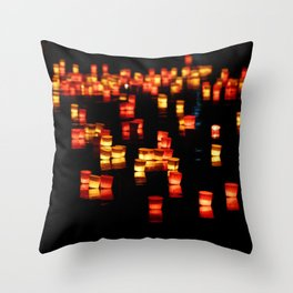Floating Laterns Throw Pillow