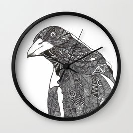 Curious Magpie Wall Clock