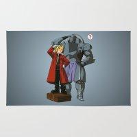 fullmetal alchemist Area & Throw Rugs featuring Alchemist of Steel by CromMorc