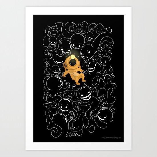 Lost Little Diver Art Print