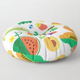 Fruit Medley White Floor Pillow