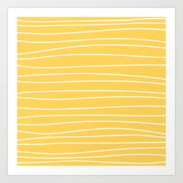 Sunshine Brush Lines Art Print