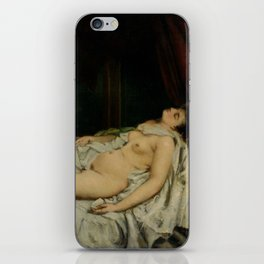 Gustave Courbet - Sleeping Nude iPhone Skin