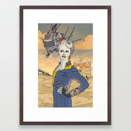 Peggy and ED-E Framed Art Print