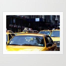NY Streets - Yellow Cabs 2 Art Print