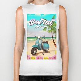 Beirut Lebanon Travel poster Biker Tank