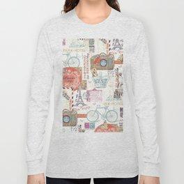 Paris Pattern 1 World Travel Long Sleeve T-shirt