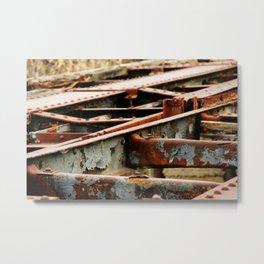 Rusted Tracks Metal Print