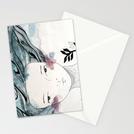 One With the Sea // ink //watercolor   Stationery Cards