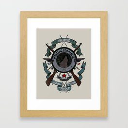 Sgt Bucky Barnes (blue) Framed Art Print