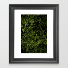 Small leaves Framed Art Print