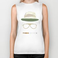 fear and loathing Biker Tanks featuring Movie Icons: Fear and Loathing in Las Vegas by Raquel Sanchis