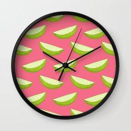 Oh-Woah-Oh, Sweet Wedge O' Lime! Wall Clock