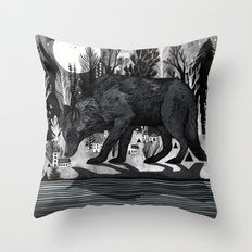 Black Shuck Throw Pillow