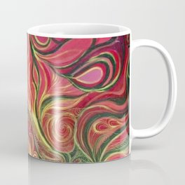 Abstract Red Gold and Black ~New Love Coffee Mug