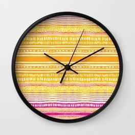 Summer Stripe Wall Clock