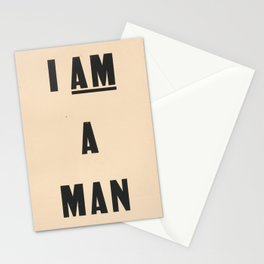 I am a Man Vintage Civil Rights Protest Poster, 1968 Stationery Cards