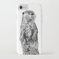 otter iPhone & iPod Cases featuring Otter by Meredith Mackworth-Praed