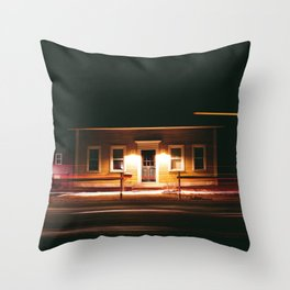 stayin' up late Throw Pillow