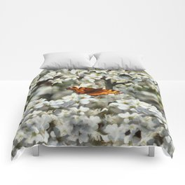 Butterfly on Blossom Comforters