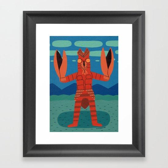 Alien Baltan Framed Art Print