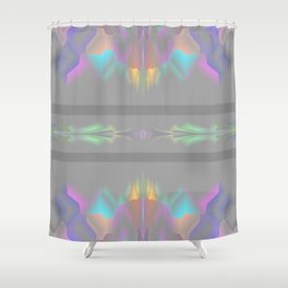 Shades of gray with colors Shower Curtain